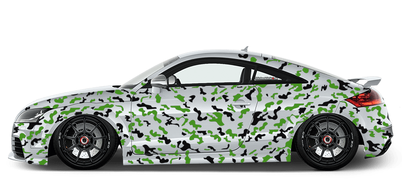 Auto Aufkleber Set Seitenaufkleber Camouflage Folie