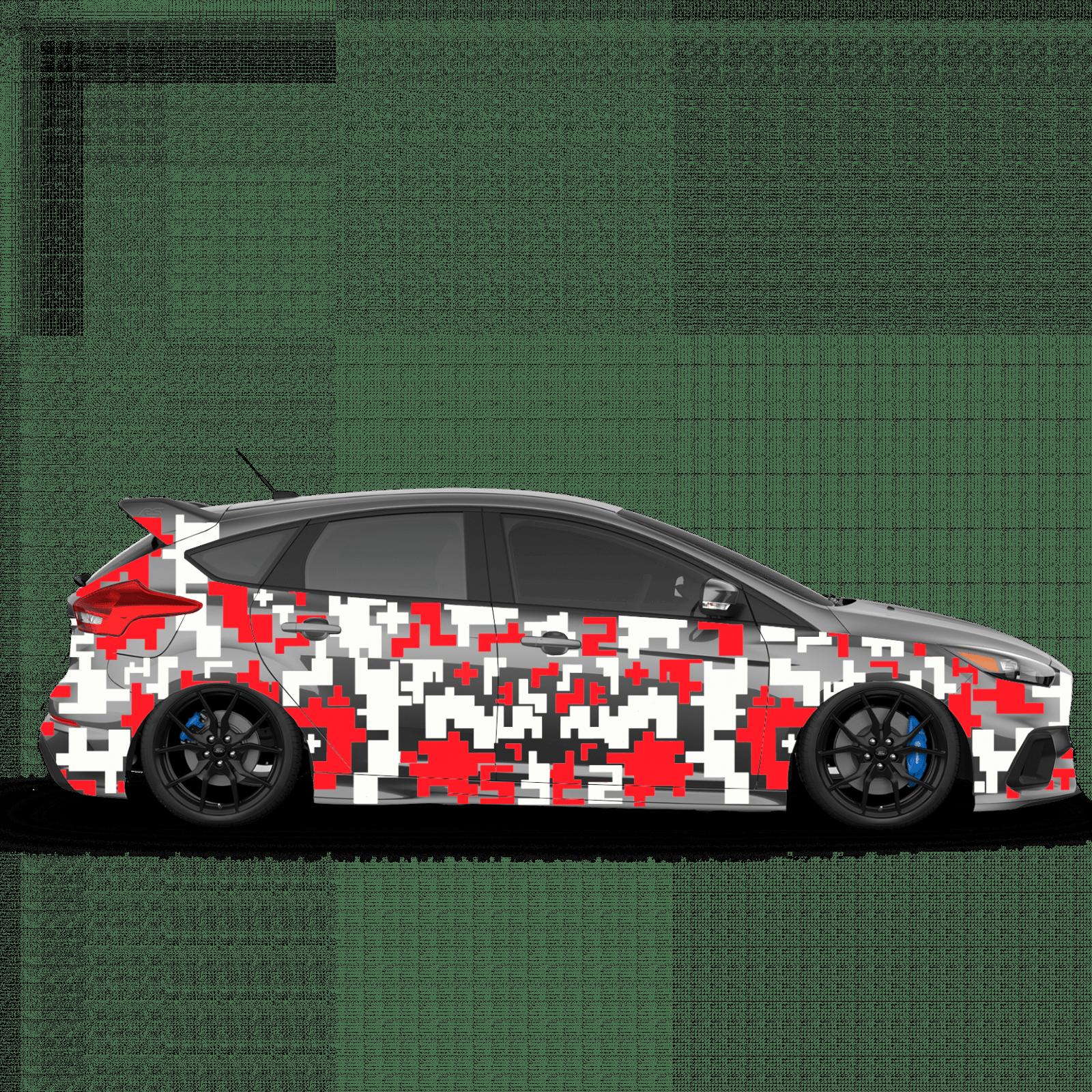 Pixel Autoaufkleber Set