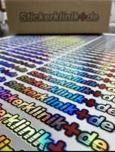 Oil Slick Sticker Farbwechsel Aufkleber erstellen lassen bunte Sticker