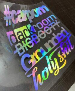 Auto Heckscheibenaufkleber Bunt Hologramm Regenbogen Farben Sticker