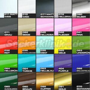 Farben für Klebebuchstaben