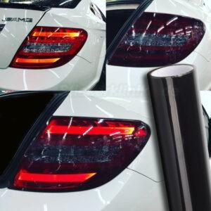 Autoscheinwerfer Lasieren mit Folie in Schwarz