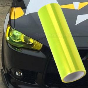 Neon Gelbe Scheinwerfer Folie zum Tönen der Autolichter