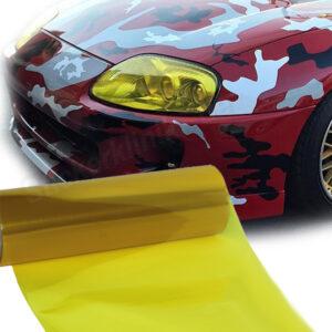 Gelbe Auto Scheinwerfer Folie