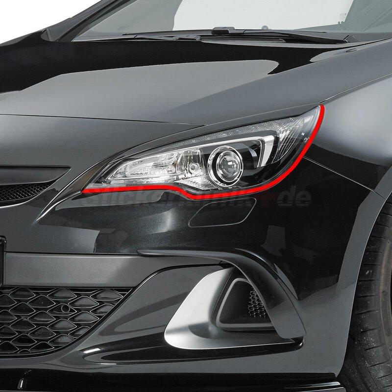 Böser Blick passend für OPEL ASTRA Auto Scheinwerfer Folie