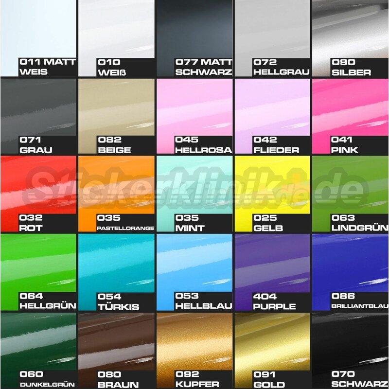 Autoaufkleber Sticker coole Farben