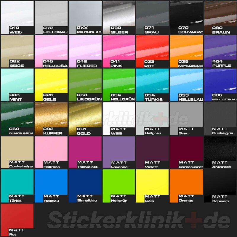 Seitenaufkleber Farben für den VW BUS