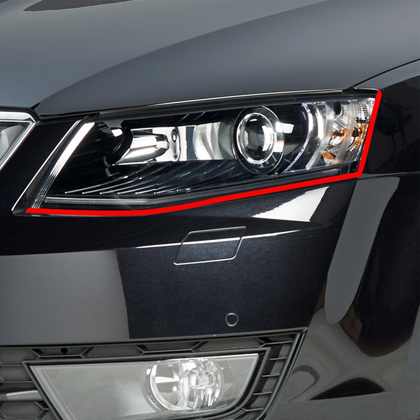 Böser Blick passend für Skoda octavia Auto Scheinwerfer Folie