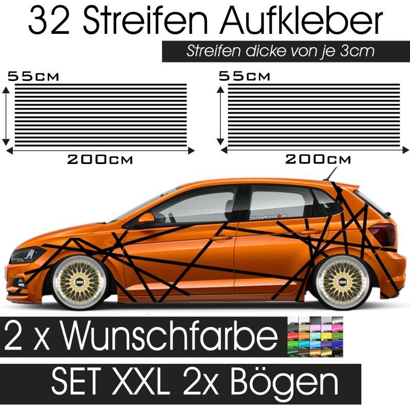 Karminrot Beltline Folie 2-teiliges Set Seitenstreifen Dekor f/ür Auto Aufkleber Kfz Zubeh/ör passend f/ür 3+5 T/ürer Zierstreifen selbstklebend D001