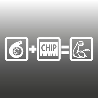 Turbo+Chip=POWER Aufkleber