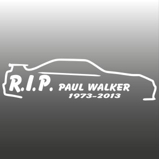 RIP PAUL WALKER Aufkleber 1973-2013