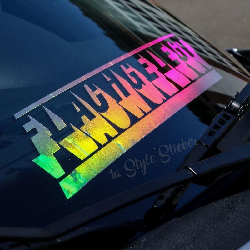 Flachgelegt Auto Aufkleber Hologramm Silber 55cm Außen Chrome Regenbogensticker