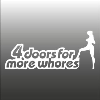 4 doors for more whores Aufkleber