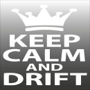 Keep Calm and Drift Aufkleber