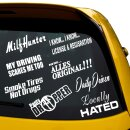 9 Sticker im Set, Locally Hated, Milf Hunter, Daily...