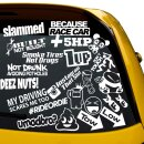 23 AUTO Aufkleber XXL Tuning Sticker Set, Instagram,...