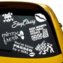 7 Car Aufkleber im Set, skull Lady Sticker,  Stay Classy,...