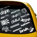 16 Aufkleber Auto Tuingsticker Set  #DATBOOTY, SHIFT,...