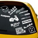 13 Teiliges Sticker Set low & steady Aufkleber Every day,...