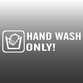 Hand Wash Only AutoAufkleber