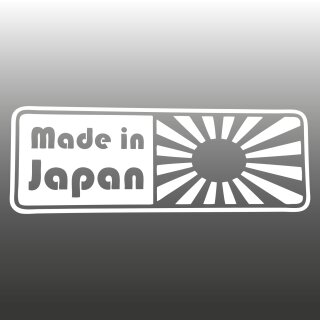 Made in Japan Rising-Sun Aufkleber
